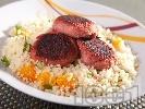 Рецепта Пуешки кюфтенца с кускус по марокански